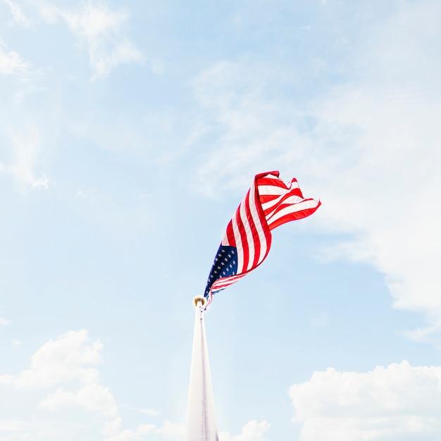 Sventolando la bandiera degli stati uniti Foto Gratuite