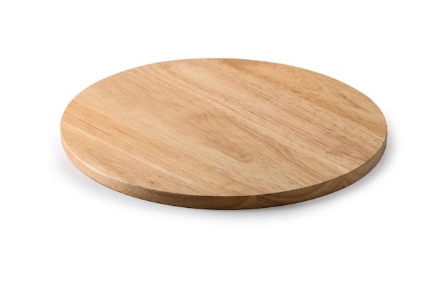 Tagliere in legno su un bianco Foto Premium