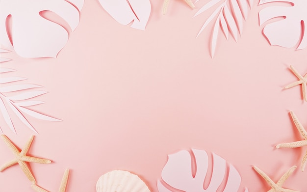 Taglio di foglie di palma Foto Premium