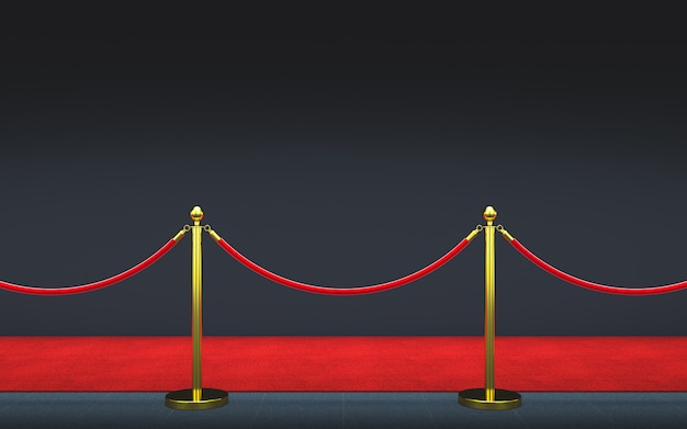 Tappeto rosso 3d Foto Premium