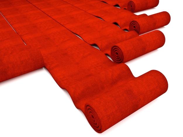 Tappeto rosso Foto Premium