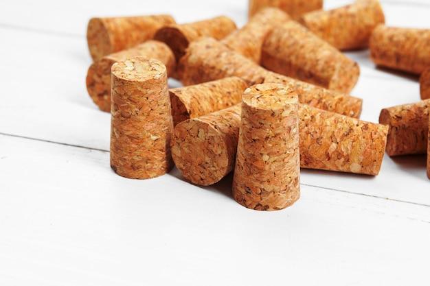 Tappi per vino in legno Foto Premium