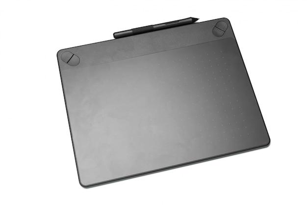 Tavoletta grafica con penna per illustratori e designer, isolata on white Foto Premium