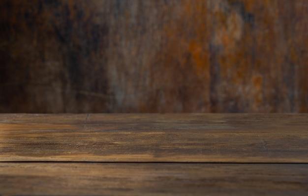 Tavolo di fondo rustico per montare il tuo oggetto Foto Premium
