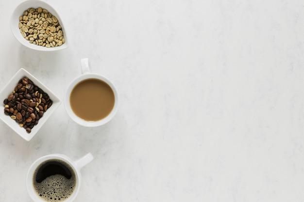 Tazze da caffè con spazio di copia Foto Gratuite