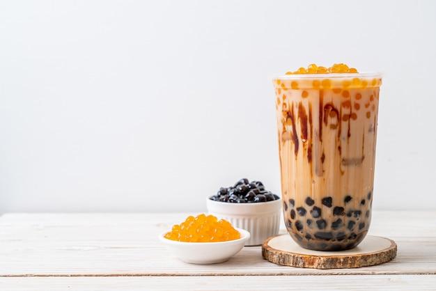 Tè al latte di taiwan con bolla Foto Premium
