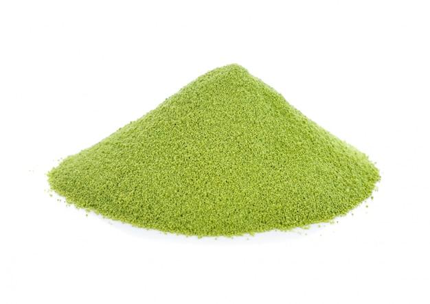 Tè verde di matcha isolato su bianco Foto Premium