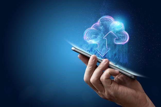 Tecnologia blockchain astratto Foto Premium