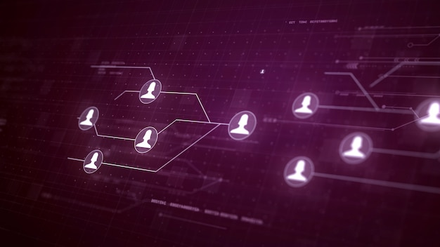 Tecnologia di connessione dei collegamenti a circuito della rete di utenti Foto Gratuite