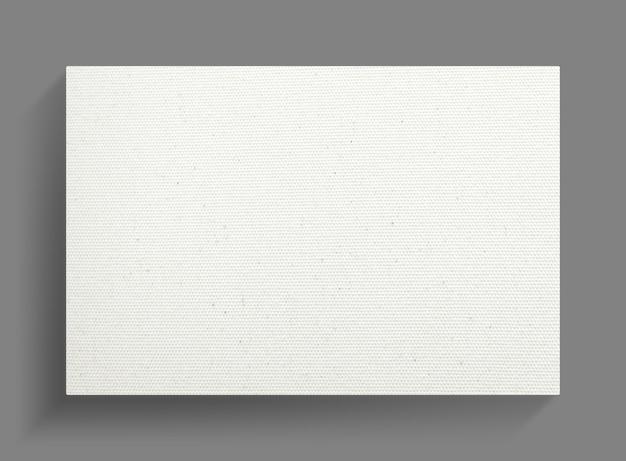 Telaio di tela bianca su sfondo grigio muro. Foto Premium