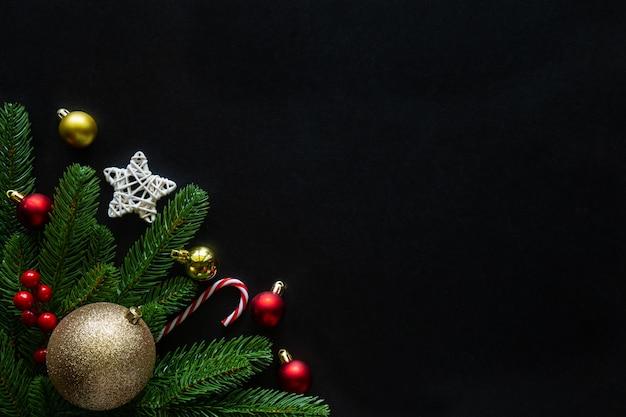 Tema della casa decorato fondo di feste di natale e capodanno. Foto Premium
