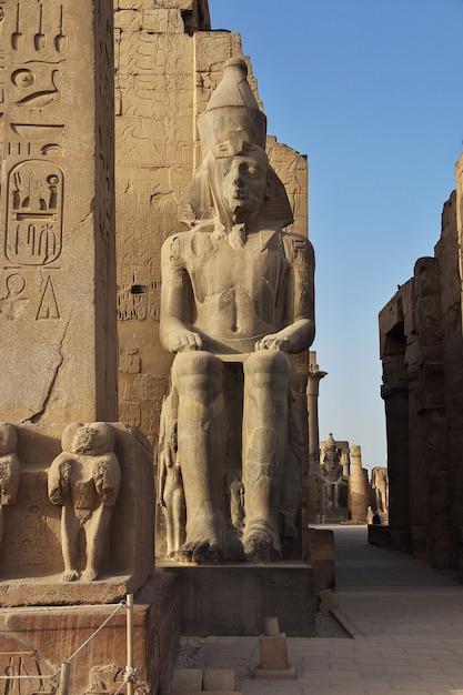 Tempio antico di luxor nella città di luxor, egitto Foto Premium