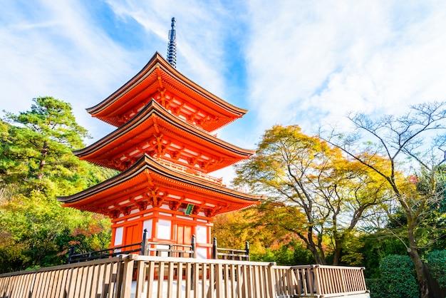 Tempio di dera di kiyomizu a kyoto al giappone Foto Gratuite
