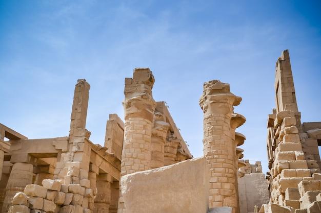 Tempio di karnak. egitto Foto Premium