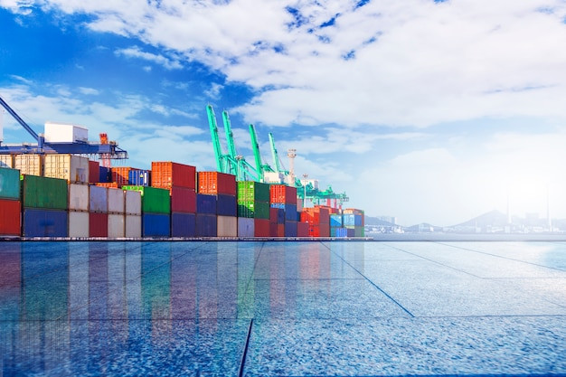Terminal container? molo, trasporto Foto Gratuite