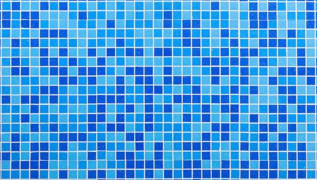 Tessere di mosaico blu Foto Premium