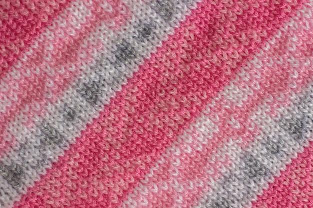 Tessuto a maglia con motivo, fatto a mano. sfondo, trama Foto Premium