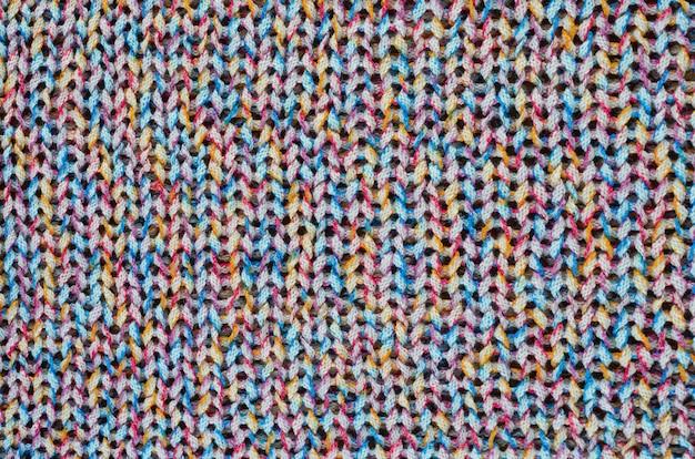 Tessuto a maglia multicolore. Foto Premium