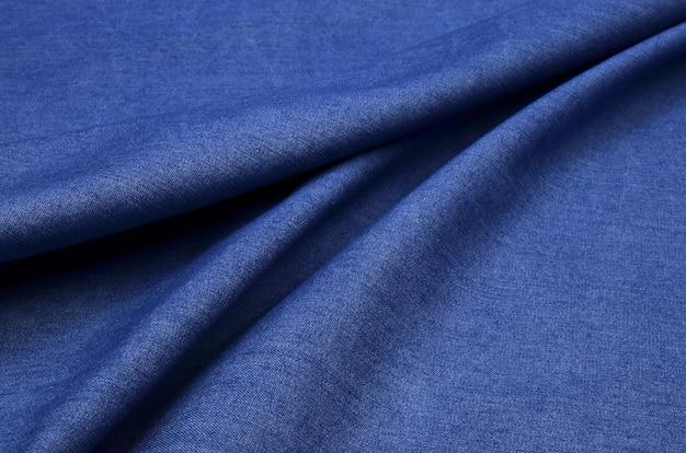 Tessuto denim blu Foto Premium