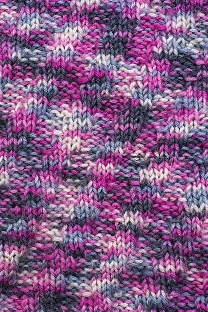 Tessuto di lana lavorato a maglia Foto Premium