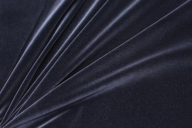Tessuto di velluto di cotone di colore nero Foto Premium