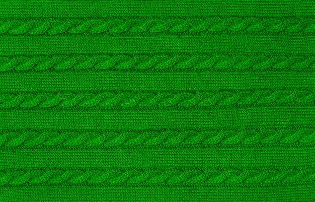 Tessuto morbido e caldo verde Foto Premium