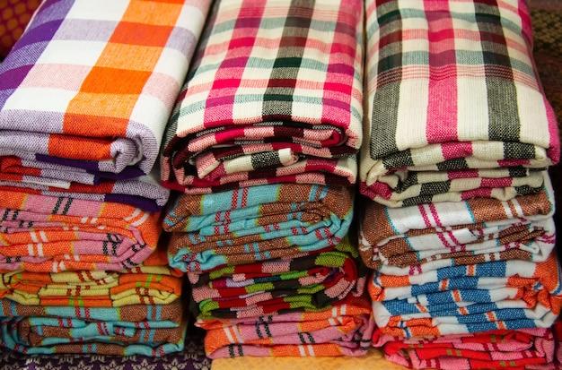 Tessuto perizoma in stile thailandese, perizoma tradizionale realizzato in thailandia Foto Premium