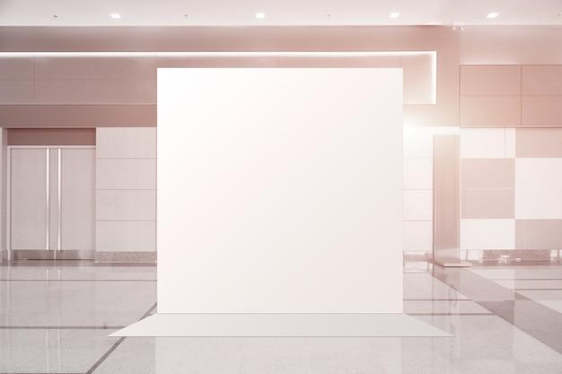 Tessuto pop-up unità base banner pubblicitario media display fondale vuoto Foto Premium