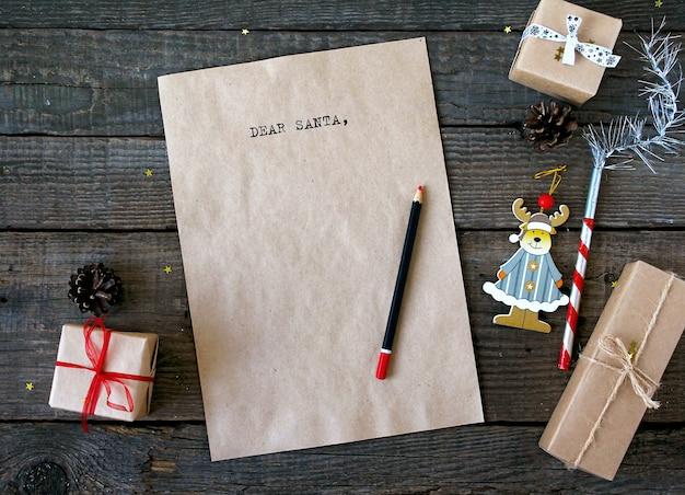 Testo cara santa lettera rustica Foto Premium