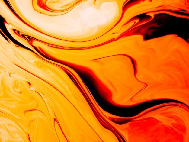 Texture acrilica liscia con curve arancioni e design unico Foto Premium