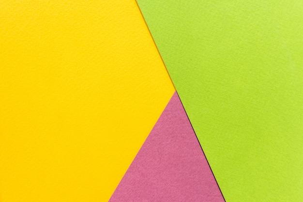 Texture di carta gialla, verde e viola. Foto Premium
