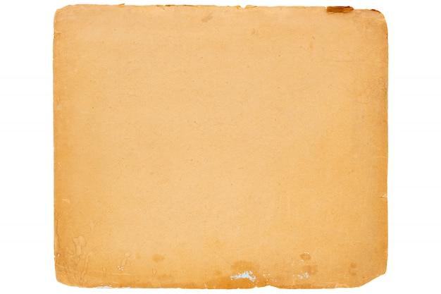Texture di vecchia carta gialla vintage. Foto Premium