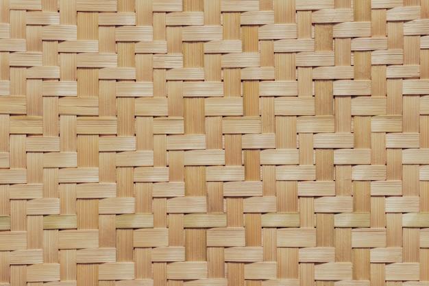 Texture di vimini di bambù. Foto Premium