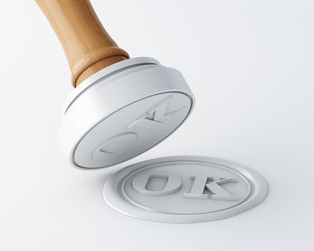 Timbro 3d e sigillo in cera Foto Premium