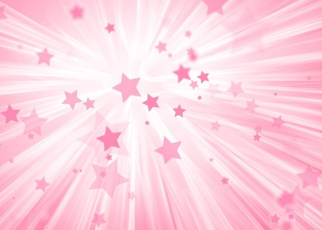 Tono Rosa Morbido Astratto Con Sfondo Di Stelle Magiche Scaricare