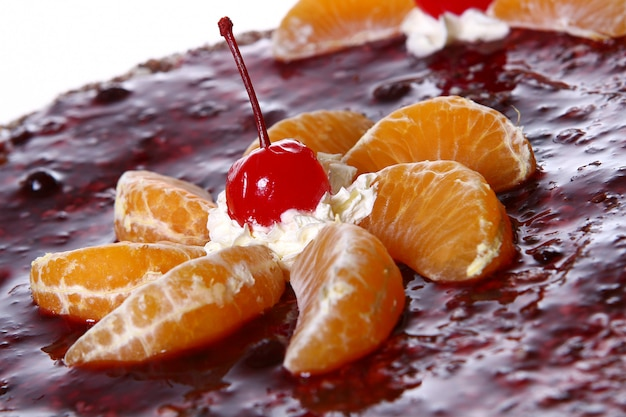Torta alla frutta con ciliegia del deserto Foto Gratuite