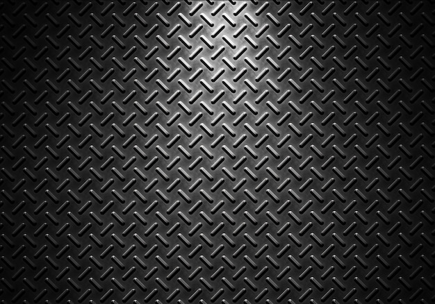 Trama di lamiera grigia con luce direzionale Foto Premium