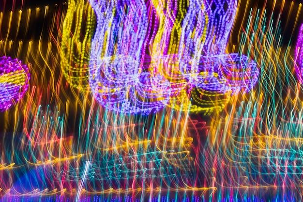 Trama di luci al neon lunga esposizione astratta Foto Gratuite