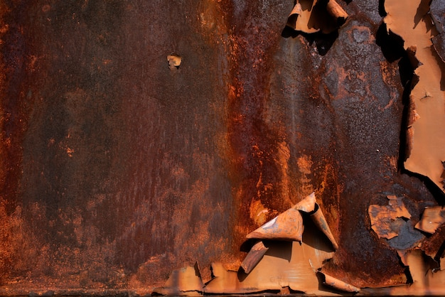 Trama di ruggine in metallo Foto Premium