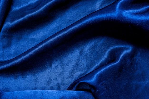 Trama di sfondo blu panno tessuto Foto Premium