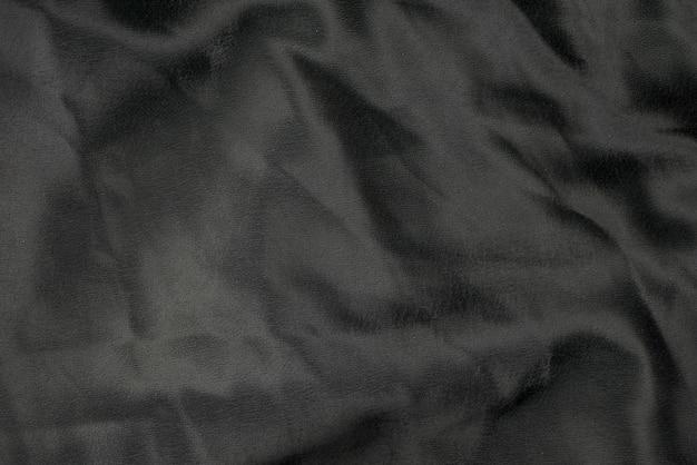Trama di sfondo tessuto panno nero Foto Premium