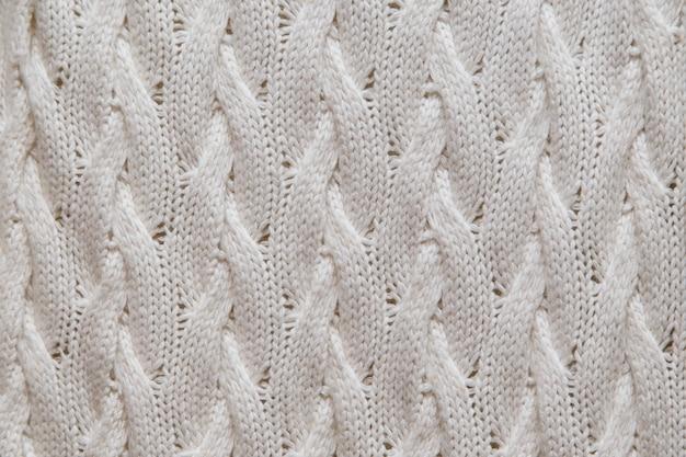 Trama di tessuto a maglia bianca Foto Premium