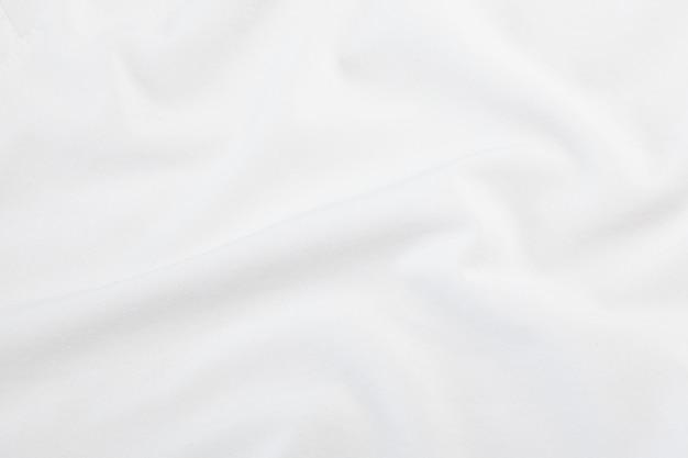 Trama di tessuto bianco, modello di stoffa. Foto Premium