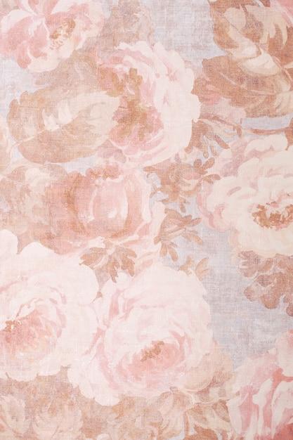 Trama, sfondo, modello. stoffa in seta dai colori squisiti con le peonie. Foto Premium