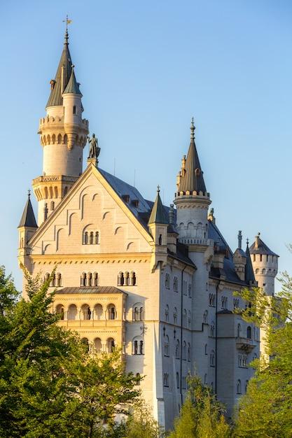 Tramonto del castello di neuschwanstein Foto Premium
