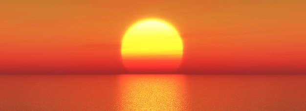 Tramonto sul mare Foto Gratuite