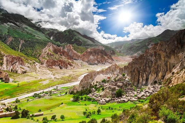 Trekking in nepal Foto Premium
