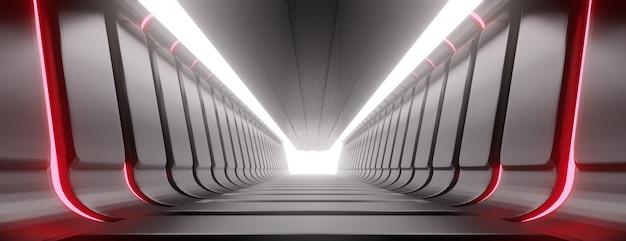 Tunnel astratto corridoio illuminato. Foto Premium