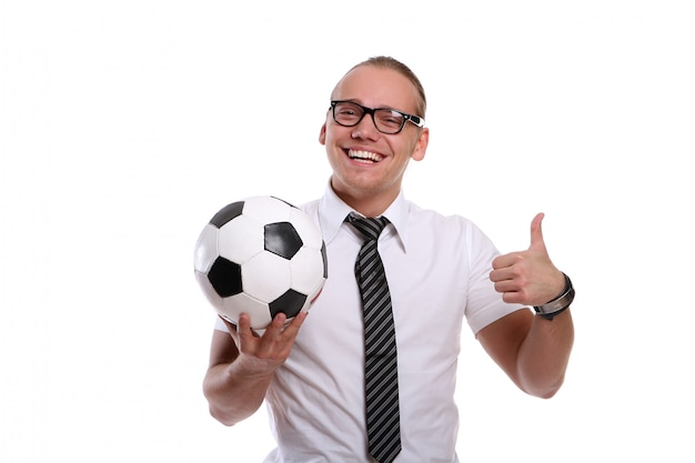 Un giovane uomo attraente con un sorriso Foto Gratuite