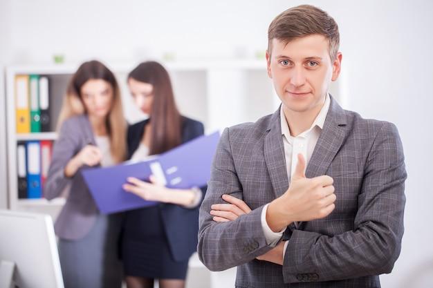 Un gruppo di uomini d'affari di successo Foto Premium